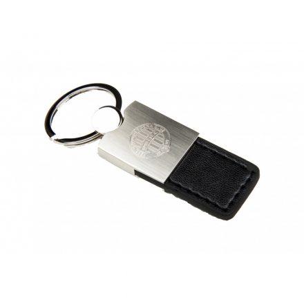 Fradi kulcstartó fém, bőr, fekete