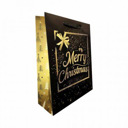 Karácsonyi ajándékszatyor Merry Christmas közepes YS-B-669