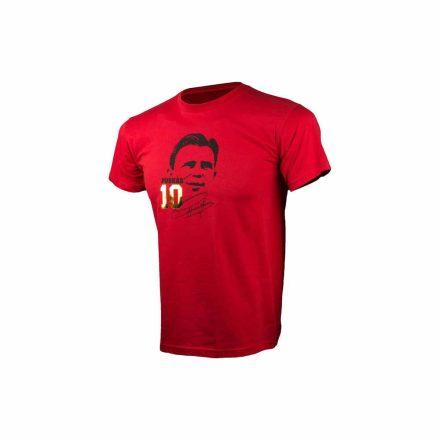 Puskás póló gyerek PUSKÁS10 piros