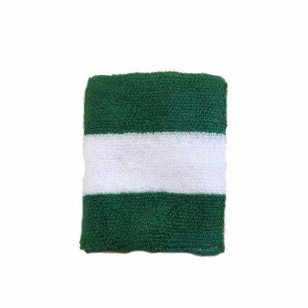 Csuklópánt zöld-fehér