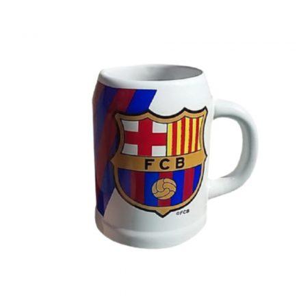 Barcelona söröskorsó kerámia 0,5L csíkos FCB