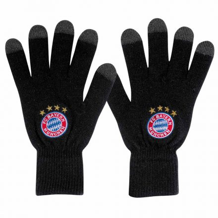 Bayern München kesztyű kötött fekete 21641