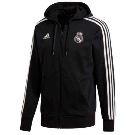 Real Madrid pulóver felnőtt kapucnis-zippes ADIDAS REAL2