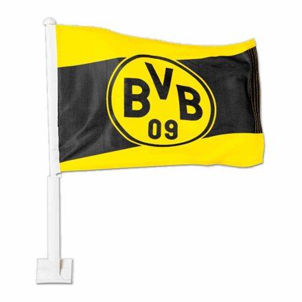Dortmund autós zászló fekete/sárga címeres