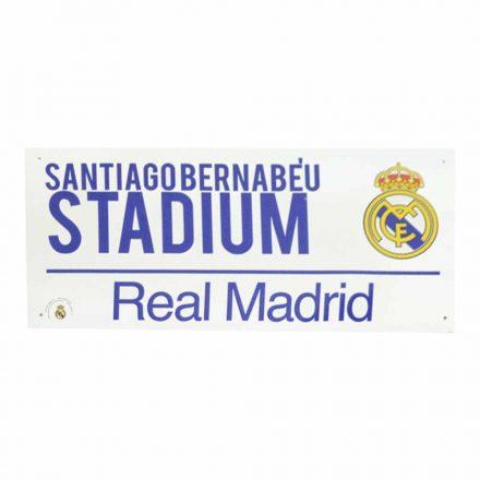 Real Madrid utcatábla SANTIAGO BERNABÉU fehér