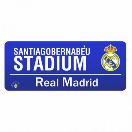 Real Madrid utcatábla SANTIAGO BERNABÉU