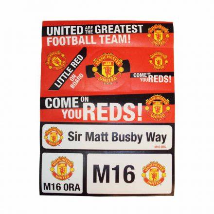 Manchester United autós matrica készlet