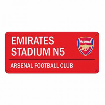 Arsenal utcatábla Emirates
