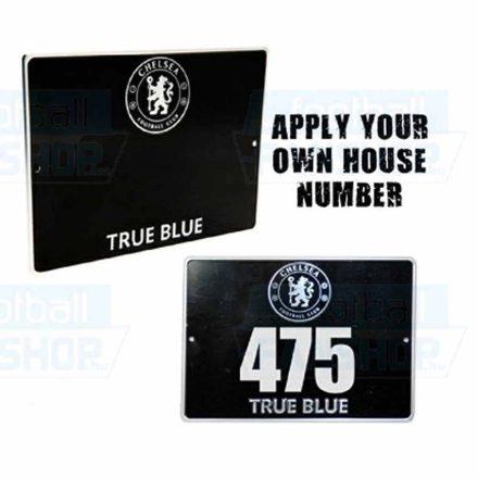 Chelsea tábla fém házszám