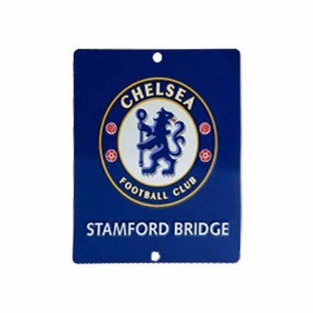Chelsea tábla autós fém szögletes