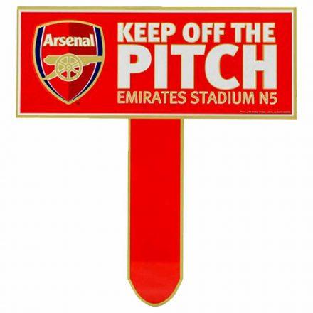 Arsenal tábla Keep Off The Pitch