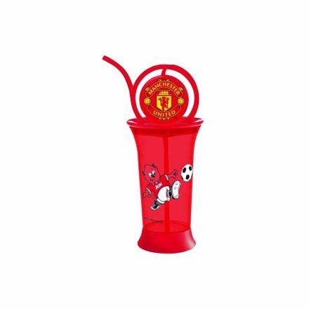 Manchester United pohár szívószállal 380 ML