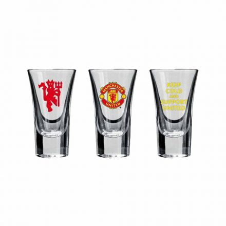 Manchester United stampedlis pohárkészlet 3db-os 50ml Keep cold and support United