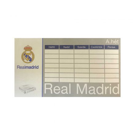 Real Madrid órarend kétoldalas