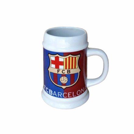Barcelona söröskorsó kerámia címeres 0,5 L