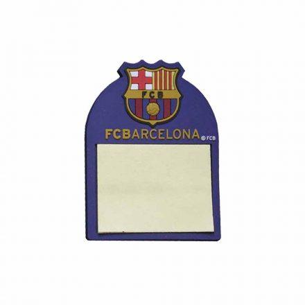 Barcelona hűtőmágnes jegyzetes