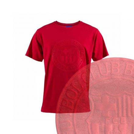 Barcelona póló gyerek FCBLOGO piros