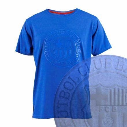 Barcelona póló felnőtt FCBLOGO kék