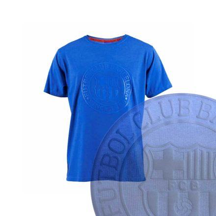 Barcelona póló gyerek FCBLOGO kék