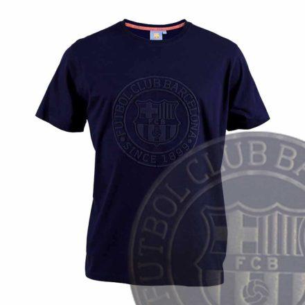 Barcelona póló felnőtt FCBLOGO sötétkék