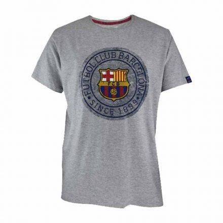 Barcelona póló felnőtt SINCE1899 szürke