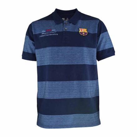 Barcelona póló galléros kék csíkos 5001PE1 felnőtt