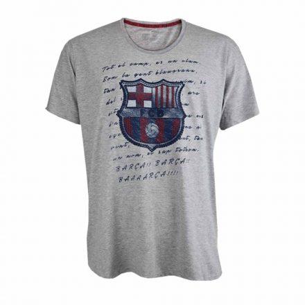 Barcelona póló felnőtt HIMNE szürke