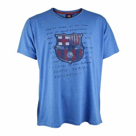 Barcelona póló felnőtt HIMNE kék