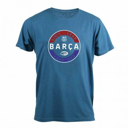 Barcelona póló felnőtt STAMP azúr