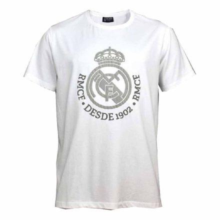 Real Madrid póló felnőtt DESDE1902 fehér-ezüst