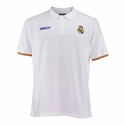 Real Madrid póló felnőtt galléros RMCF fehér-színes