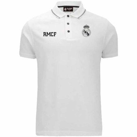 Real Madrid póló felnőtt galléros RMCF fehér