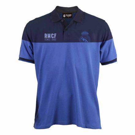 Real Madrid póló felnőtt galléros RMCF s.kék-kék