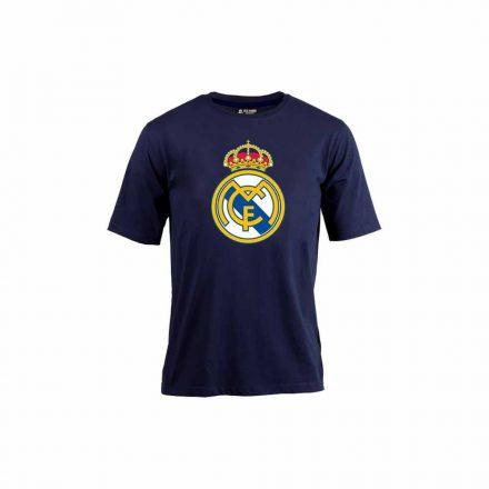 Real Madrid póló gyerek RMCFLOGO sötétkék