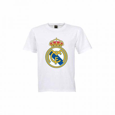 Real Madrid póló gyerek RMCFLOGO fehér