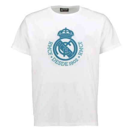 Real Madrid póló felnőtt DESDE1902 fehér-türkiz