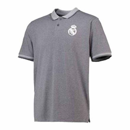 Real Madrid póló felnőtt galléros RMCF szürke