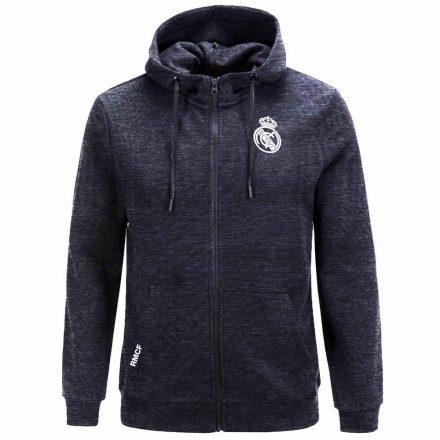 Real Madrid pulóver felnőtt kapucnis-zippes MELANGE1