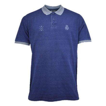 Real Madrid póló felnőtt galléros RMCF sötétkék