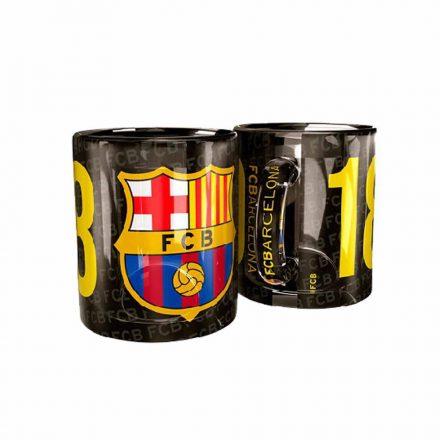 Barcelona bögre üveg FCB 1899