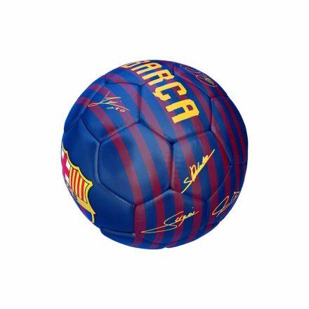 """Barcelona labda mini csíkos aláírásos 1"""" B1802"""