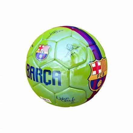 "Barcelona labda mini zöld aláírásos 1"" B1805"