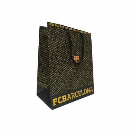 Barcelona ajándékszatyor fekete írásos